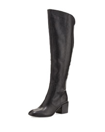 Felicia Pebbled Knee Boot