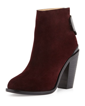 Kerr Nubuck Ankle Boot, Bordeaux