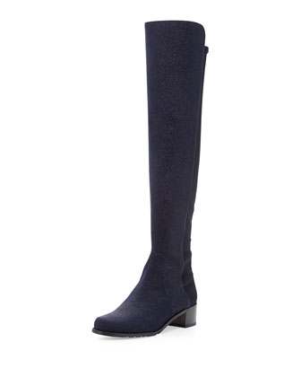 Reserve Pindot Over-the-Knee Boot, Nice Blue (Made to Order)