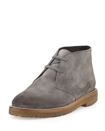 Clay Suede Desert Boot, Graphite