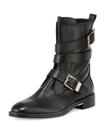 Louise Leather Moto Boot