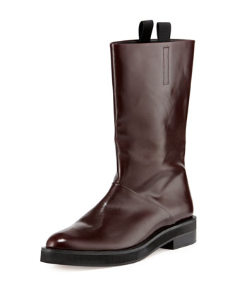 Liberty Leather Flat Boot, Horizon