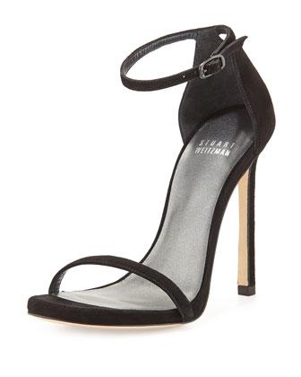 Nudist Suede Ankle-Strap Sandal