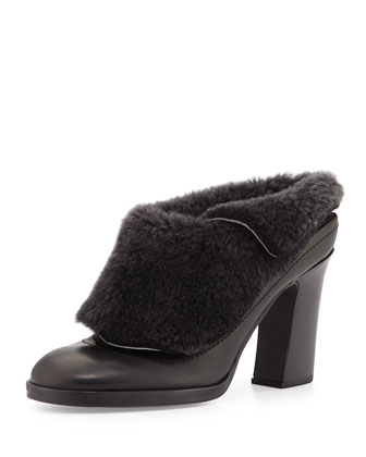 Hailey Shearling-Lined Runway Mule