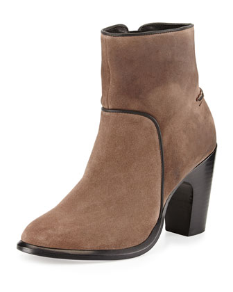 Grayson Suede Ankle Boot, Taupe