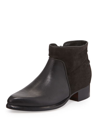 Aston Suede/Leather Ankle Bootie, Asphalt