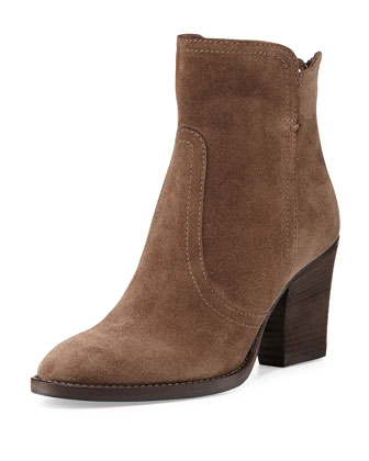 Farah Suede Ankle Boot, Mud Rub (Brown)