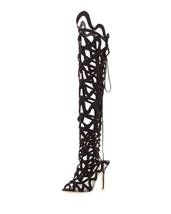 Mila Cutout Over-the-Knee Boot