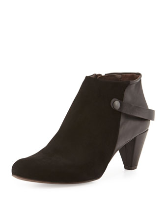 Selene Suede Ankle Boot, Black