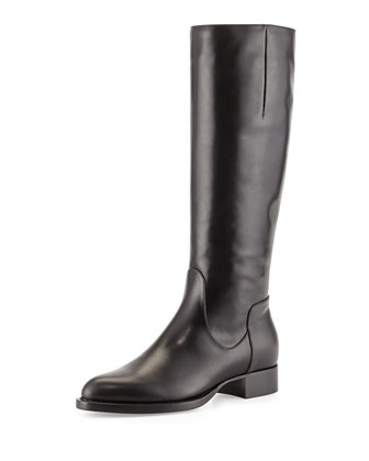 Gabor Leather Knee Boot, Black