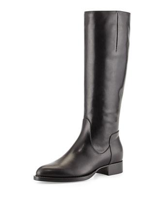 Gabor Leather Knee Boot, Black