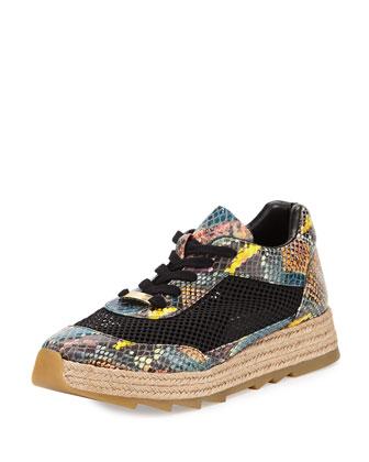 Faux-Python Platform Sneaker, Caricoa
