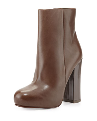 Darling Leather Ankle Boot, Stone