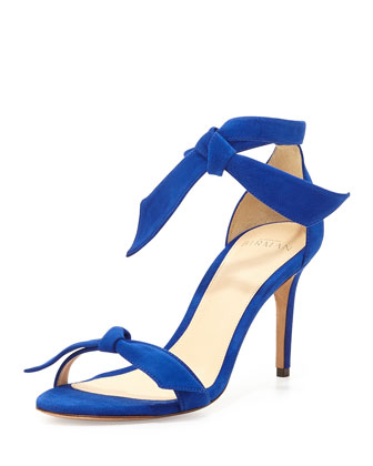 Suede Bow-Tie d'Orsay Sandal