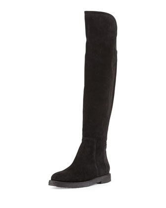 Coleton Suede Over-the-Knee Boot, Black