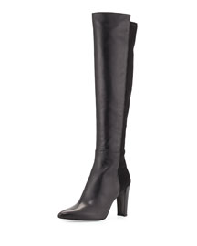 Demivoom Leather Over-the-Knee Boot, Black