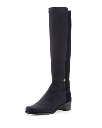 Mezzamezza Pindot Knee Boot, Nice Blue (Made to Order)