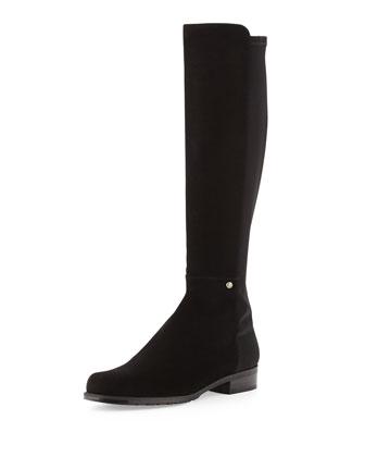 Coast Mezzamezza Suede Knee Boot, Black