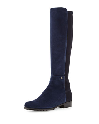 Coast Mezzamezza Suede Knee Boot, Nice Blue (Made to Order)