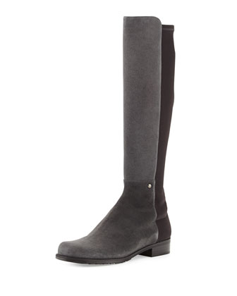 Coast Mezzamezza Suede Knee Boot, Smoke (Made to Order)
