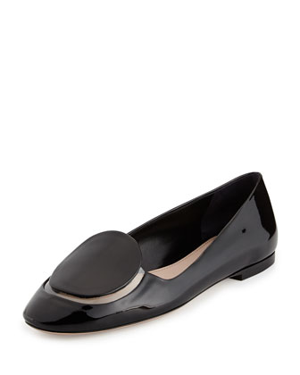 Patent & PVC Slip-On Loafer, Nero