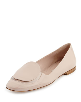 Patent & PVC Slip-On Loafer, Cipria