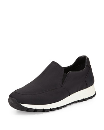 Nylon Slip-On Sneaker, Nero