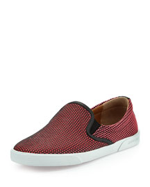 Demi Honeycomb Skate Shoe, Geranium