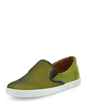 Demi Honeycomb Skate Shoe, Acid Yellow
