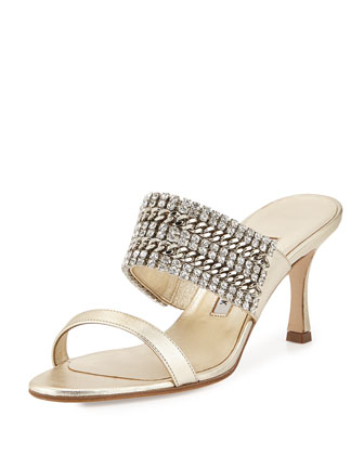 Telo Jeweled Napa Slide Sandal