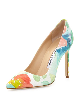 BB Floral Watercolor Pump, Pink Multi