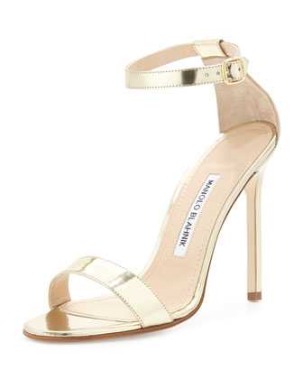 Chaos Metallic Stiletto Sandal, Gold