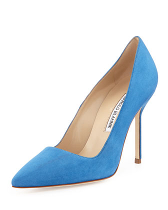 BB Suede 105mm Pump, Cornflower Blue