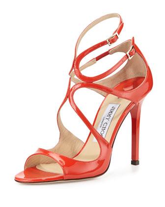 Lang Patent Crisscross Sandal, Fire