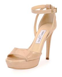 Kayden Patent Platform Sandal, Nude