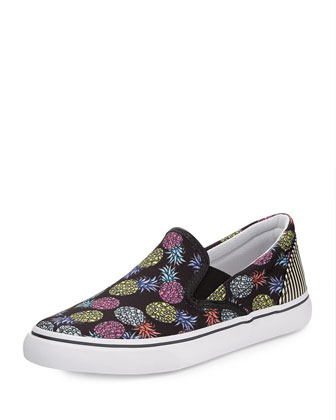 Adele Pineapple Skate Sneaker, Black/Multi