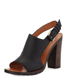 Jemina Leather Sport Sandal, Black