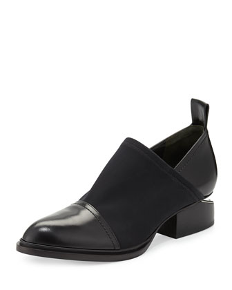Kori Stretch Neoprene & Leather Shoe, Black