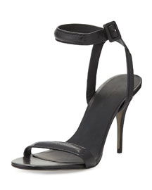 Antonia Leather Sandal, Black