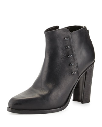 Alwyn Leather Ankle Boot, Black