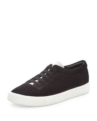 Canyon Suede Slip-On Sneaker, Black/Bone