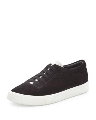 Canyon Suede Slip-On Sneaker, Black/Bone