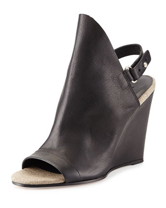 Kostel Slingback Wedge Bootie, Black