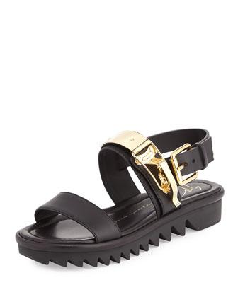 Lugged-Sole Sandal