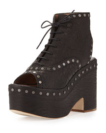 Halizee Studded Platform Boot, Black