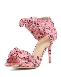 Knotted Strap Bandana Sandal, Pink