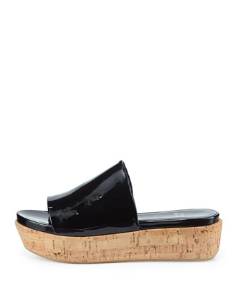 Flatout Patent Wedge Slide, Black