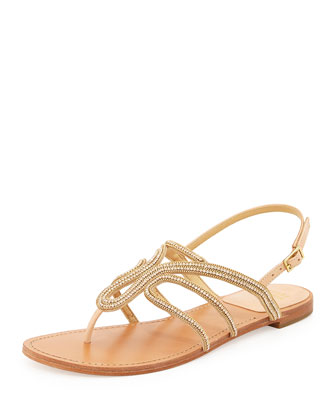 Thongshow Crystal Sandal, Gold