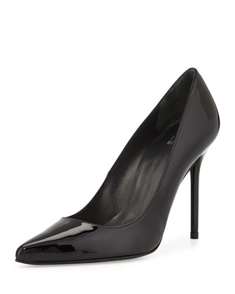 Nouveau Patent Point-Toe Pump, Black