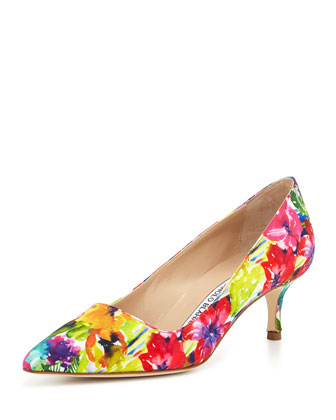 BB Fabric 50mm Pump, Vivid Floral (Made to Order)